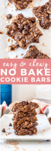 Easy No Bake Cookies with Chocolate Chips and Peanut Butter | no bake recipes, no bake desserts, easy no bake recipes, how to make no bake cookies, le creuset, le creuset crock, le creuset giveaway | The Butter Half