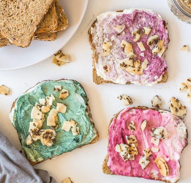 How to Make Superfood Mermaid Toast | unicorn toast, unicorn food, mermaid food, fun breakfast ideas, healthy breakfast ideas, quick healthy breakfast, fun food, fun food for kids, bare snacks | The Butter Half