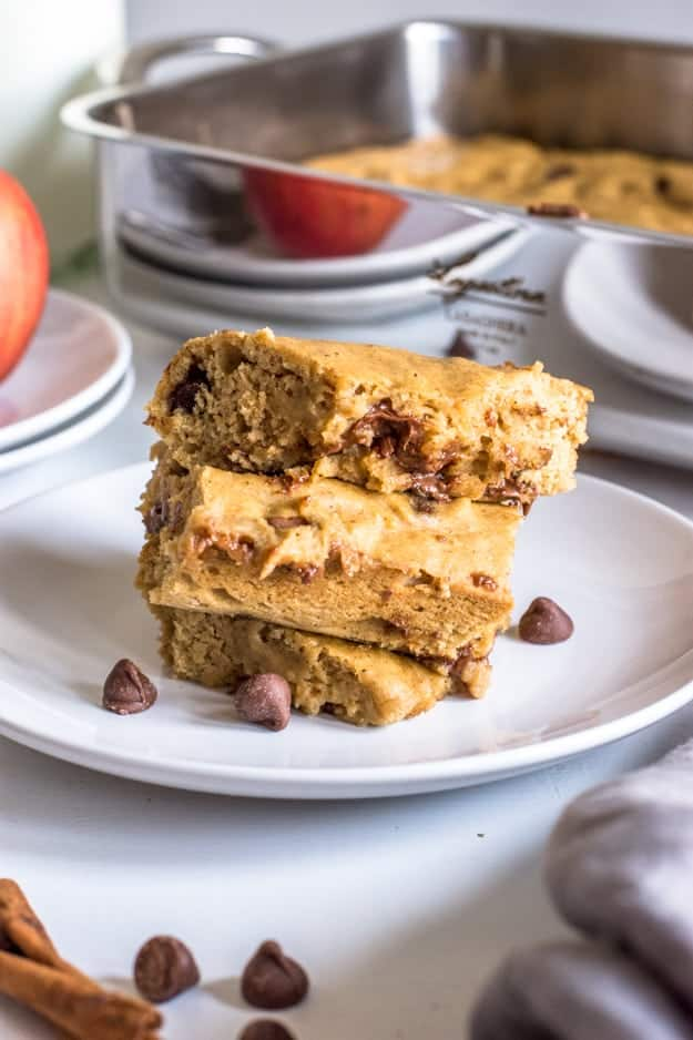 Easy Apple Spice Cake with Chocolate Chips (Dairy-Free + No Refined Sugar!)