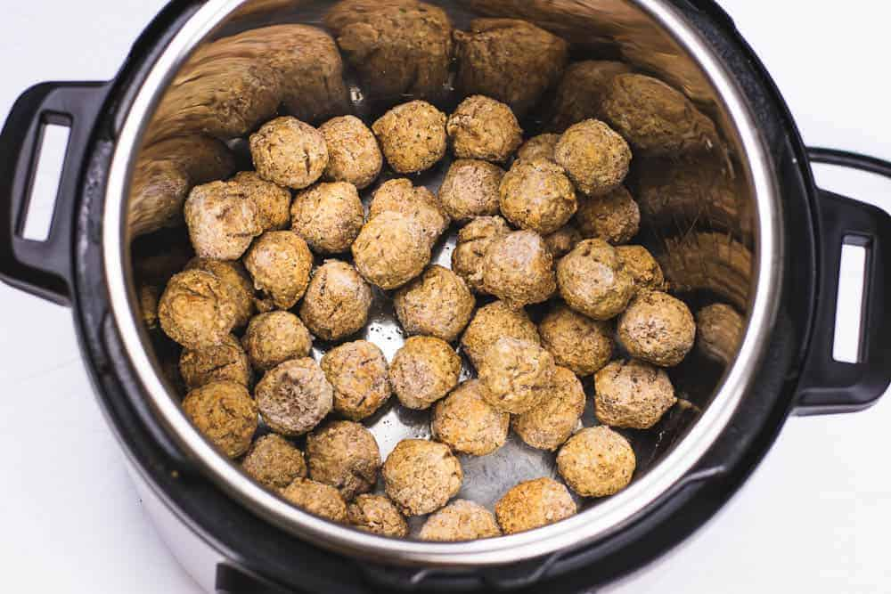 How long to cook frozen uncooked meatballs in instant pot