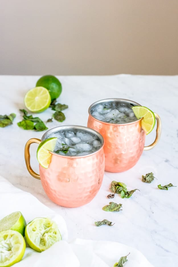 Non-Alcoholic Moscow Mule Mocktail