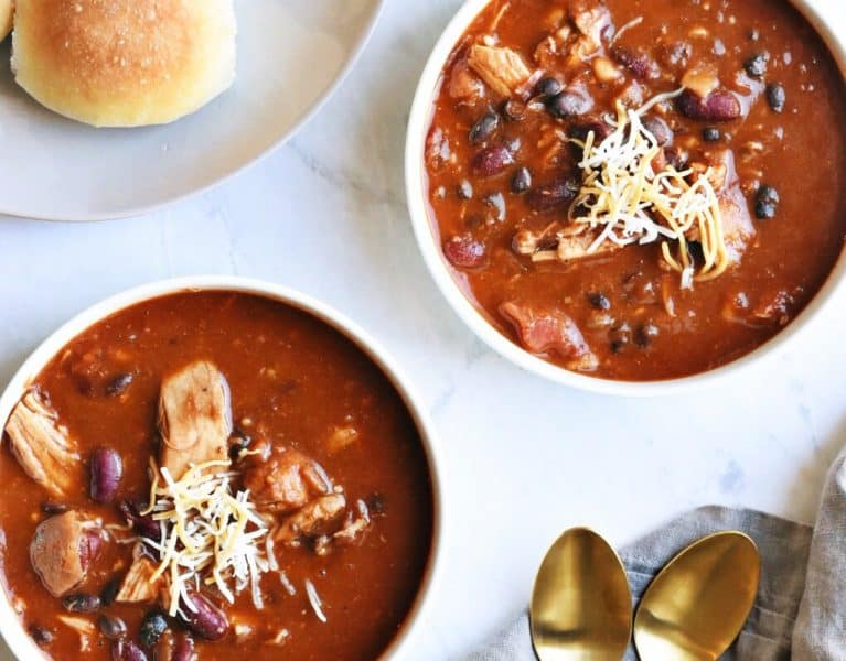 Sweet and Easy Instant Pot Chili with Chicken and Beans