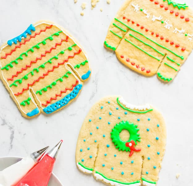 How to Decorate Ugly Christmas Sweater Cookies