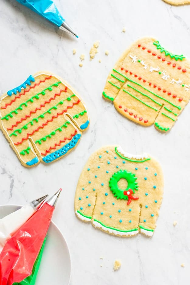 how to decorate ugly christmas sweater cookies - How To Decorate A Ugly Christmas Sweater