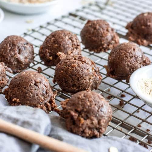 No-Bake Lactation Cookies with Fenugreek (Vegan + Gluten-Free)