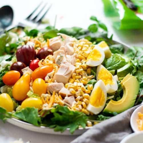 5-Minute Rotisserie Chicken Cobb Salad Recipe (Gluten-Free)