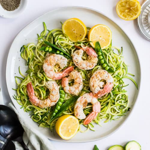 Easy Lemon Garlic Shrimp Zoodles