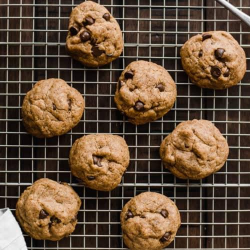 Gut-Healthy Gluten Free Chocolate Chip Cookies (Vegan)
