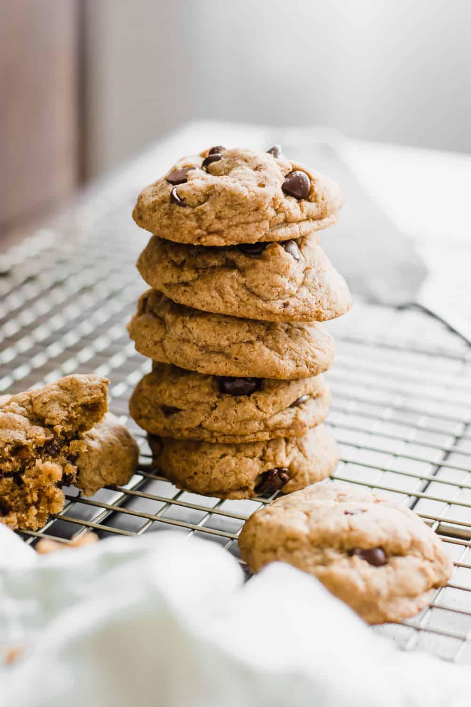 Gut-Healthy Gluten Free Chocolate Chip Cookies (Vegan) | Gluten-Free Cookies, Gluten-Free Cookie Recipe, Vegan Cookie Recipe, Chocolate Chip Cookies, Chewy Gluten-Free Cookie Recipe, Gut-Healthy Cookie Recipe #glutenfreecookie #vegancookierecipe #chewychocolatechipcookierecipe #healthychocolatechipcookierecipe || The Butter Half via @thebutterhalf