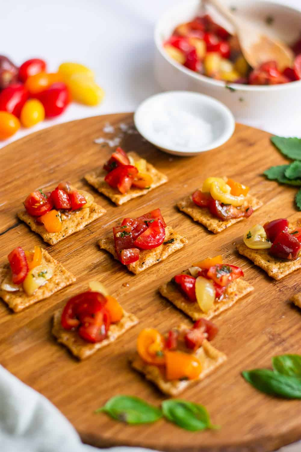 5-Minute Vegan Gluten Free Bruschetta without Bread | Vegan Bruschetta, Gluten Free Bruschetta, Bruschetta Without Bread, 5 Minute Bruschetta, Bruschetta Recipe #veganbruschetta #glutenfreebruschetta #easybruschetta #thebutterhalf || The Butter Half