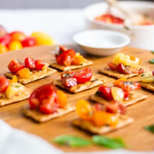 5-Minute Vegan Gluten Free Bruschetta without Bread
