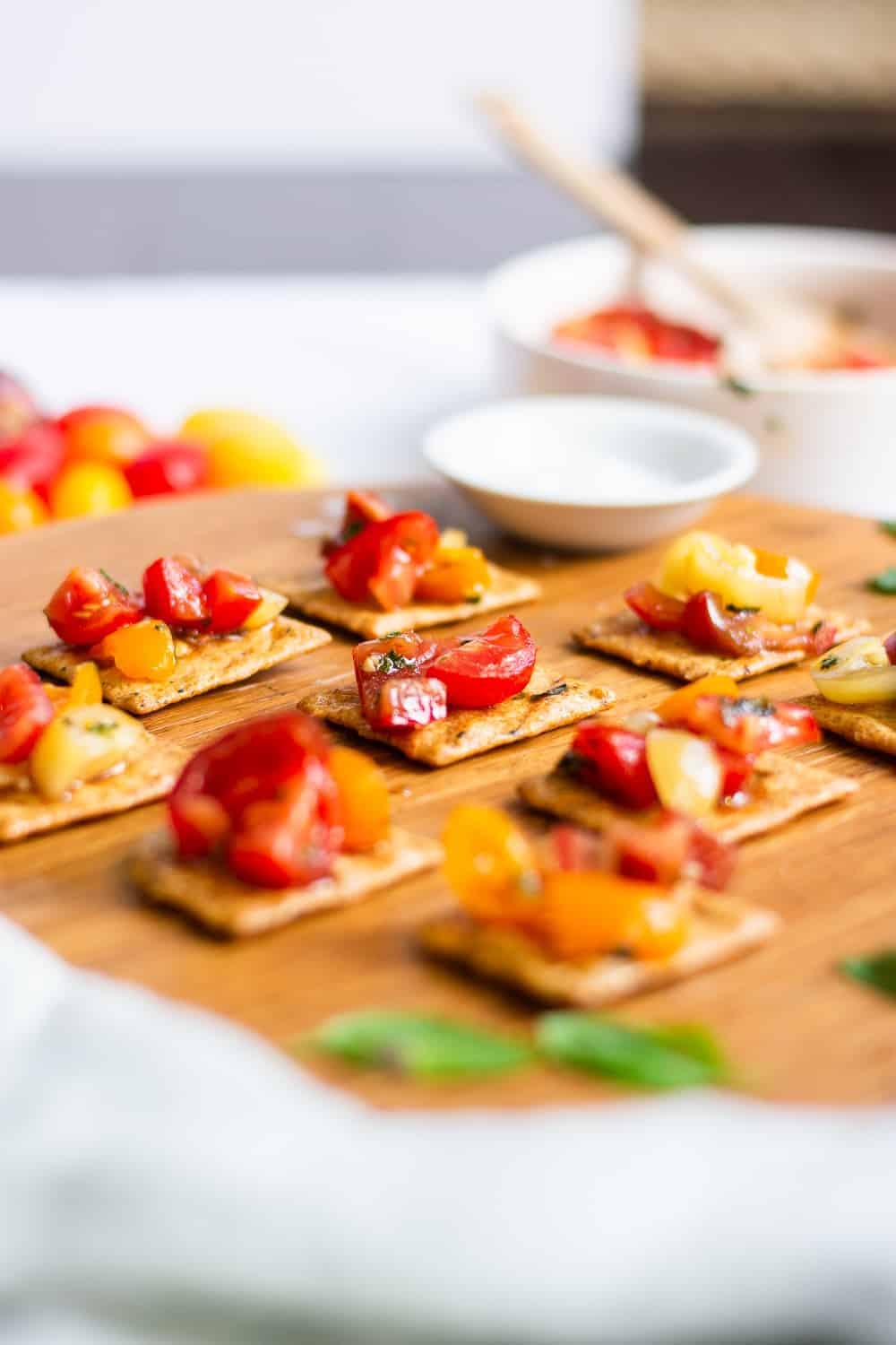 5-Minute Vegan Gluten Free Bruschetta without Bread