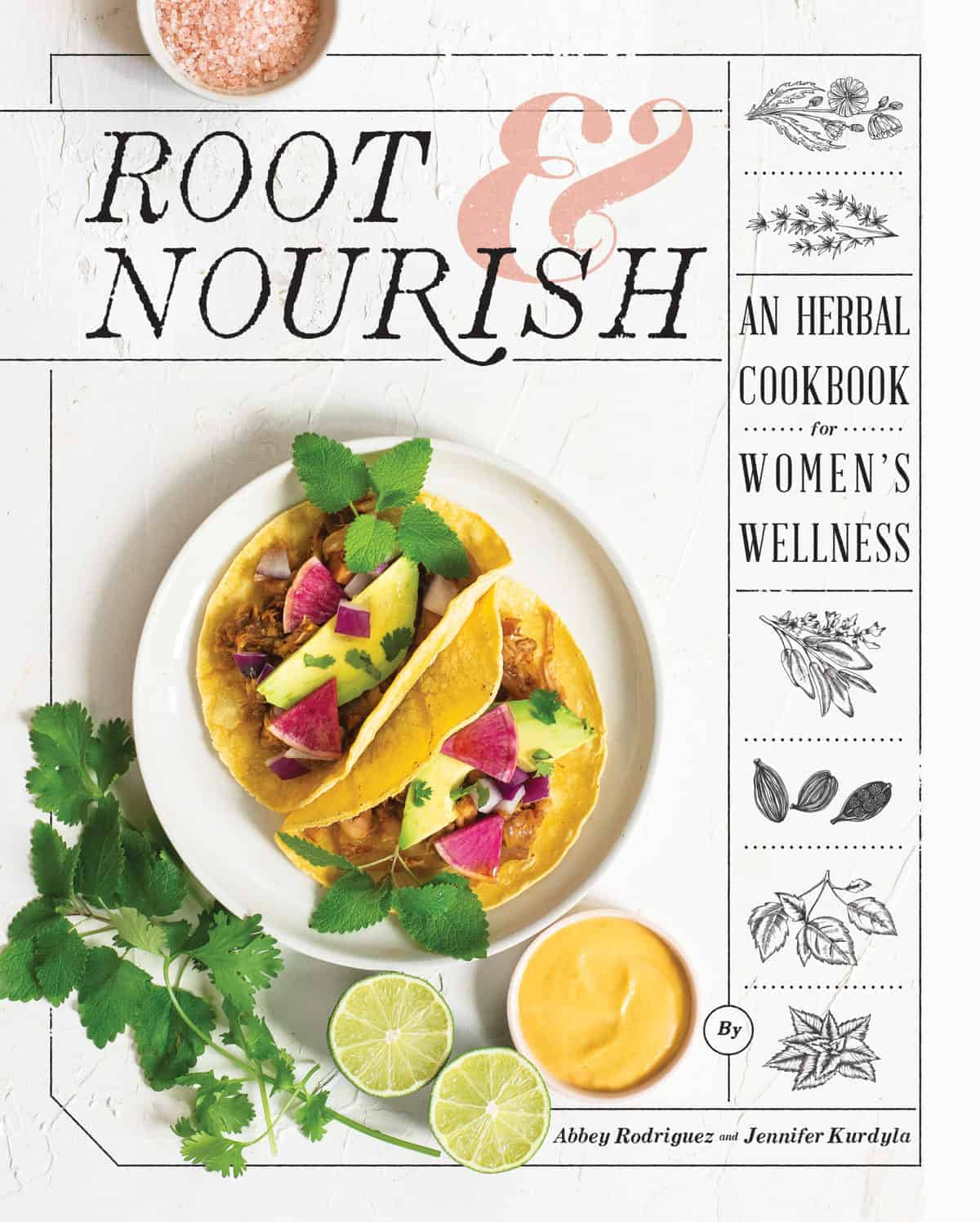 cookbook cover with tacos on cover